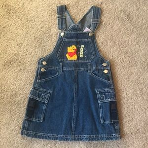 Disney's Pooh Girl's Skirt Overalls